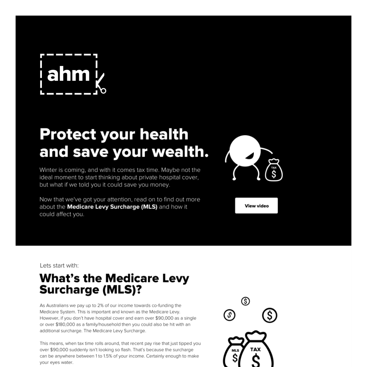 ahm: Tax Time Landing Page