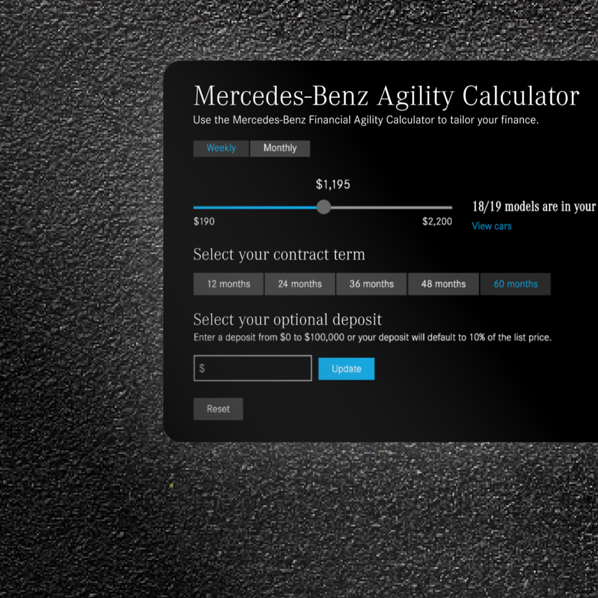 Mercedes-Benz: Affordability Calculator